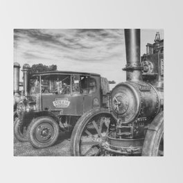 Steam Lorry And Traction Engine Throw Blanket