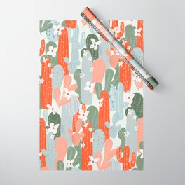 Floral Cactus Wrapping Paper