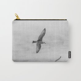 seagull in grey Carry-All Pouch