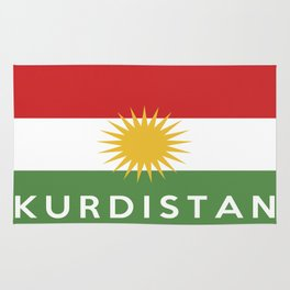 Kurdistan country flag name text Rug