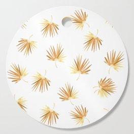 Golden Palm Leaf Cutting Board