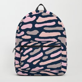 Organic Abstract Navy Blue Backpack