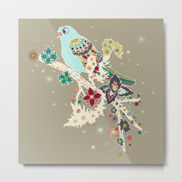 Morning Skylark Metal Print