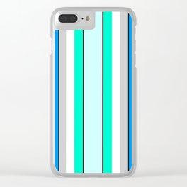 Aquafresh Curtains Clear iPhone Case