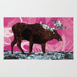 Chocolate Moose on Strawberry Rug