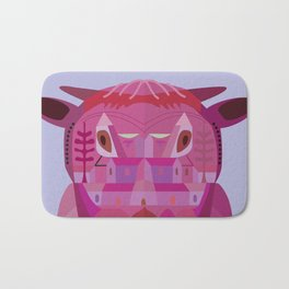 A Cow in Los Angeles Bath Mat