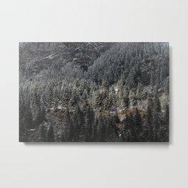 Powdered Mountain Metal Print