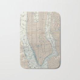 Vintage Map of New York City (1893) Bath Mat