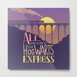 All aboard the Hogwarts express Metal Print