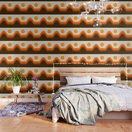 Golden Horizon Diptych - Left Side Wallpaper
