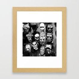 scary masks Framed Art Print