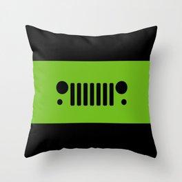Jeep 'Green' Throw Pillow