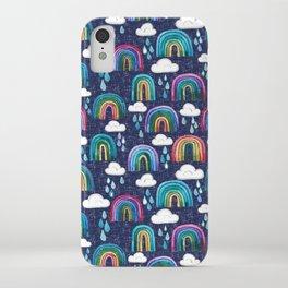 Rainbows & Raindrops iPhone Case