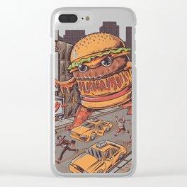 Burgerzilla Clear iPhone Case