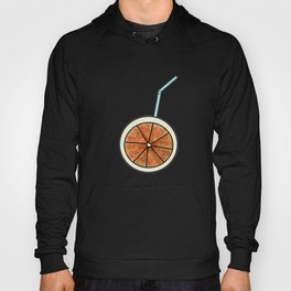 bright orange and cocktail straw Hoody