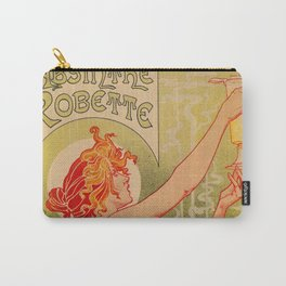 Classic French art nouveau Absinthe Robette Carry-All Pouch