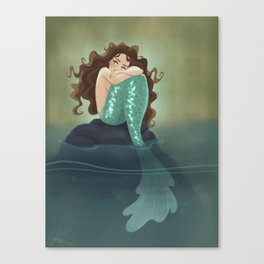 Somber Mermaid Canvas Print