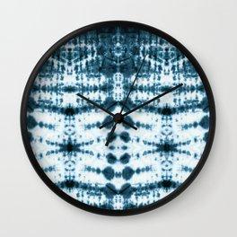 Teal Tribe Shibori Wall Clock