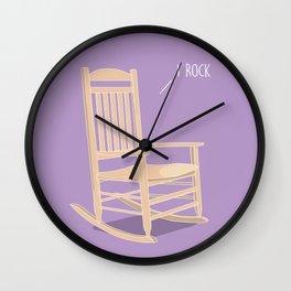 I Rock Wall Clock