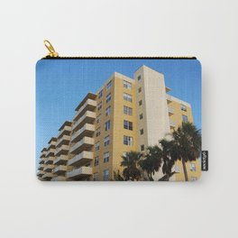 A yellow appartment building Carry-All Pouch