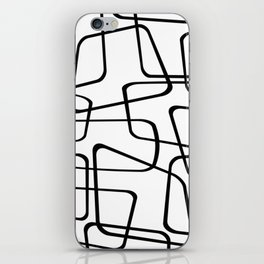 Mid Century Black And White Pattern iPhone Skin