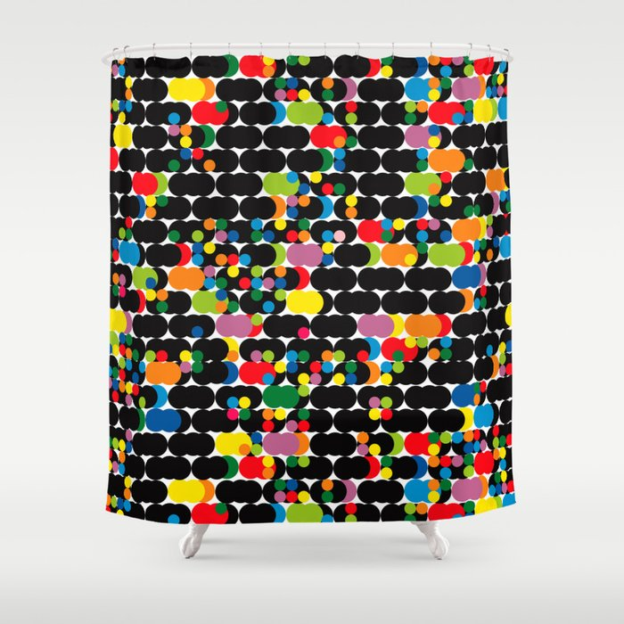 DOTS - polka 1 Shower Curtain