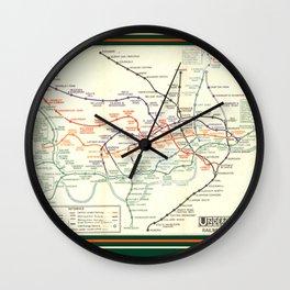 Vintage London Underground Map Wall Clock