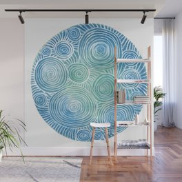 Blue Tint Abstract Wall Mural