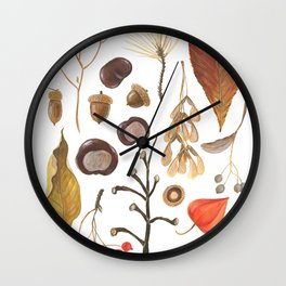 Autumn treasure chest Wall Clock