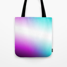 Vibrant Turquoise and Magenta Gradient Tote Bag