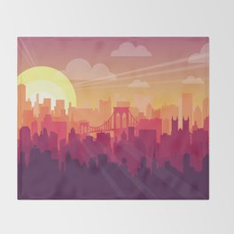 Brooklyn Sunset Throw Blanket