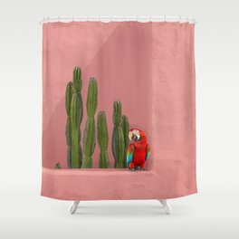 Macaw in Mexico Shower Curtain
