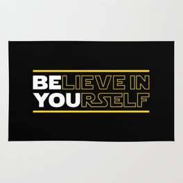 Believe In Yourself (Be You) Typography Rug