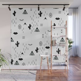 Indian summer aztec mayan symbol pattern Wall Mural