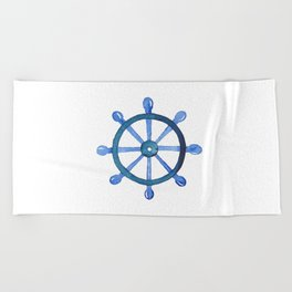 Navigating the seas Beach Towel