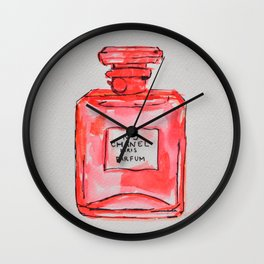perfume red Wall Clock