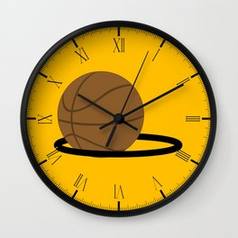 Basketball In The Hoop Wall Clock