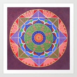 Healing Womb Mandala Art Print