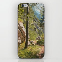 Green forest in the mountains iPhone Skin
