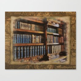 Knowledge - Antique Books on History & Law Canvas Print