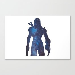 Mass effect - Space , Female Shepard  Canvas Print