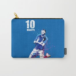 Mbappe art on blue #france Carry-All Pouch