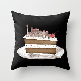 Hungry for Travels: Slice of Berlin Throw Pillow
