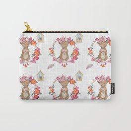 Lufkin Mouse Repeat Pattern Illustration - Bagaceous Carry-All Pouch