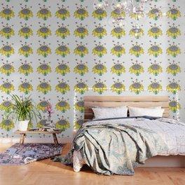 Bees at Work Wallpaper