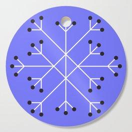 Mod Snowflake Purple Cutting Board