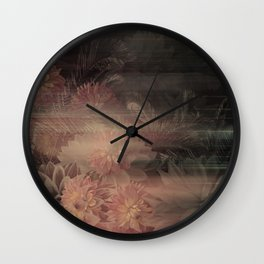 Floral Antique Wall Clock
