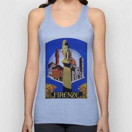 Florence Firenze travel, lion statue Unisex Tank Top