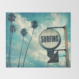 Surfing Sign Throw Blanket