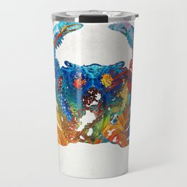 Colorful Crab Art by Sharon Cummings Travel Mug